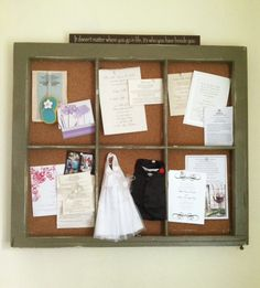 A Homemade Bulletin Board- you can use a old window to do a chalk board too.