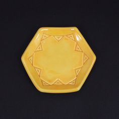Mustard Star Hexagon Ring Dish