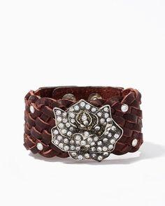 Desert Rose Leather Cuff Bracelet | Jewelry | charming charlie