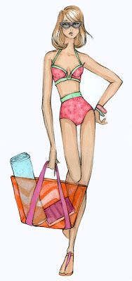 Fabulous swimwear sketch from The Spinsterhood Diaries (@Sarah Jones).