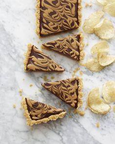 Use potato chips to make this Chocolate Peanut Butter Swirl Tart.
