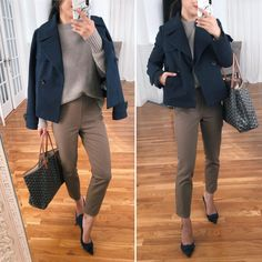 Office Fashion – professional fall workwear outfit ideas in petites Office Fashion – professional fall workwear outfit ideas in petites styling a sustainable everlane sweater for the office // cold weather workwear // … Business Professional Outfits, Business Casual Outfits, Office Outfits, Stylish Outfits, Office Wardrobe, Professional Wardrobe, Casual Attire, Wardrobe Basics, Office Wear