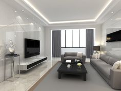 marble themed interior laminate featured on tv featured wall ww8858wc - Interior Modern Living Room