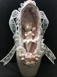 decorated pointe shoe #nutcrackerballet #nutcracker #ballerinagifts