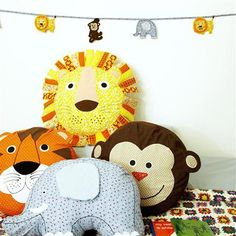 Sass & Belle Lion Cotton Cushion with Inner