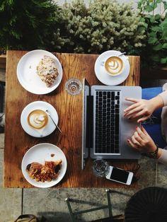 trabalho + café