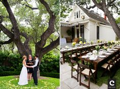 private courtyard wedding