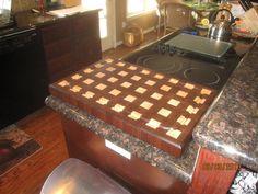 Walnut & Maple Endgrain Cutting Board