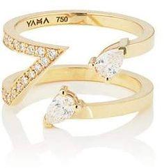 YAMA Women's Loop Ring - Gold Body Jewelry, Jewelry Rings, Jewelery, Fine Jewelry, Women Jewelry, Unique Rings, Beautiful Rings, Diamond Jewelry, Diamond Rings