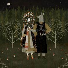 Svatba by Alexandra Dvornikova #illustration #folklore