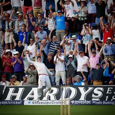 Joe Root taking the catch to win the first Investec Ashes Series 2015!