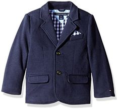 Tommy Hilfiger Baby Boys Knit Blazer Swim Navy 12 Months -- Be sure to check out this awesome product. (This is an affiliate link)