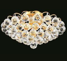 Godiva Collection 14″ Dia Medium Crystal Flush Mount Ceiling Light