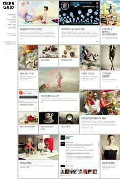 UBERGRID grid layout theme web design resources - The Digital 2014 Trends Bundle