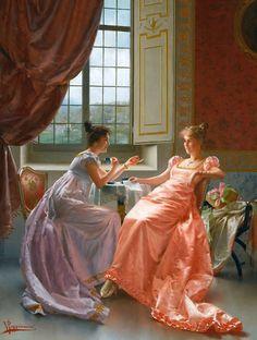 Vittorio Reggianini se especializou em pintar cenas de gênero