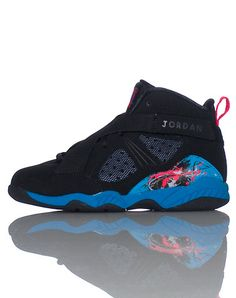 JORDAN Lace and cross strap front closure Pink Detail throughout Padded tongue with logo Girls 8.0 design sneaker EXCLUDED FROM ALL SALES AND PROMOTIONS