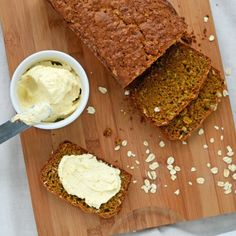 Carrot Bread with Whipped Orange Cream Cheese- the well floured kitchen.