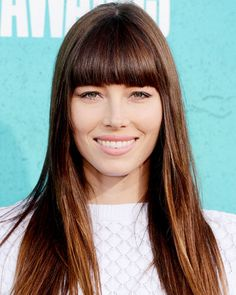 Chic Summer Hair: #JessicaBiel's Blunt Bangs http://www.instyle.com/instyle/makeover