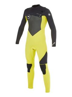 70b1826979 Quiksilver Youth Wetsuit Syncro GBS 4 3 Chest Zip - Black Yellow Best Brands