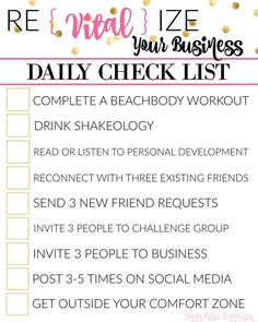 Beachbody Coach daily vital behaviors checklist