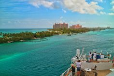 The impressive Paradise Island Resort photographed at the roof deck of the AIDAvita (Nassau / The Bahamas)!