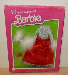 Vintage Barbie Fashion Originals NRFB Gorgeous Dress Marabou 2451