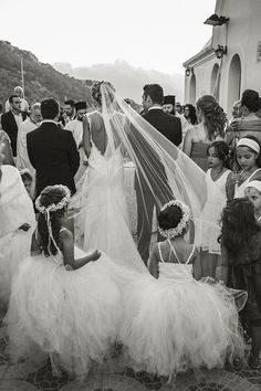 Black and white Black White Photos, Black And White, Karpathos, Rings For Girls, Marry You, Something Blue, Flower Girls, Traditional Wedding, Pretty Dresses