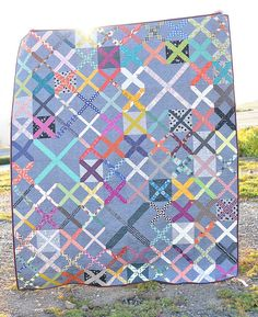 Scrappy X Quilt | Kitchen Table Quilting