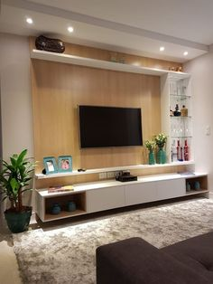 Living Room Tv Unit, Living Room Modern, Interior Design Living Room, Living Room Designs, Living Room Decor, Living Rooms, Tv Wall Ideas Living Room, Small Living, Tv Unit Decor