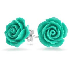 Bling Jewelry Pretty Petal Studs ($9.99) ❤ liked on Polyvore featuring jewelry, earrings, accessories, studs, floral, blue, stud-earrings, rose stud earrings, flower earrings and christmas jewelry