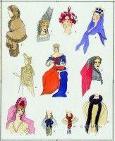 Louis XIV fashion Caps and hoods. 17th century French costumes. Paul Louis Victor de Giafferri. Caps, hoods