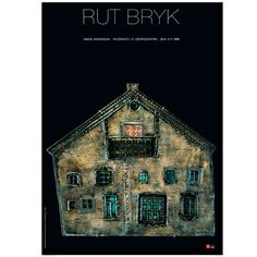 """The poster designed by Juhani Pallasmaa presents a picture of a ceramic piece by Rut Bryk called Karjalaisten Talo (""""The House of the Karelians""""). The poster was designed for Rut Bryk's exhibition showcased in the 80's both in Amos Andersson art museum and in Rovaniemi art museum."""