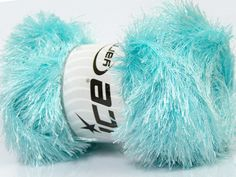 Fiber Content 80% Polyester 20% Lurex Light Turquoise Brand Ice Yarns fnt2-46561
