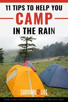 A downpour can be a bummer during a camping trip. However, with these informed tips on camping in the rain, you will not have to pack up and leave yet. #camping #campingtips #survivaltips #survival #preparedness #survivallife Camping Lunches, Camping Hacks, Outdoor Survival, Outdoor Gear, Camping In The Rain, Survival Life, Happy Campers, Backpacking, Prepping