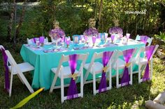 Decoración de mesa de la princesa Jasmin