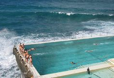 New Castle, Australia (the waves are so rough your not allowed to swim in the ocean, only surf, so they built this pool!