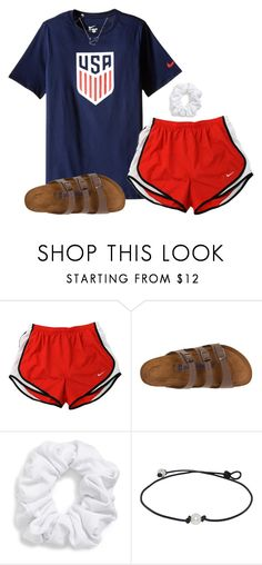 """it might snow tomorrow..."" by caprirunyan ❤ liked on Polyvore featuring NIKE, Birkenstock and Natasha"