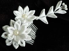 Until  Fabric Flower Hair Comb  Made To Order by MizuSGarden, $48.00