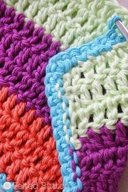 How to Crochet Clean Edges along Rough Edges Tutorial by Felted Button (Colorful Crochet Patterns) #CrochetEdging