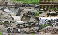 07/10/2014 - Typhoon sweeps through Japan killing three including 12-year-old boy killed by landslide