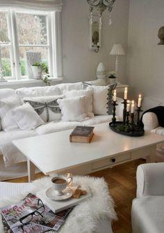 GroBartig Luxus Wohnzimmer Klein Living Room Decor, Living Room White, Shabby Chic  Living Room,