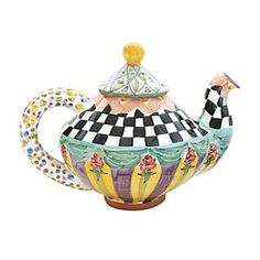 Had Alice thought to bring our Odd Fellows Teapot, her tea party might not have been so mad. Taylor Teapot - Odd Fellows #giftsunder300
