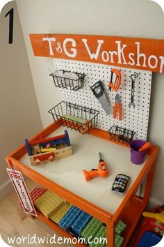 playroom IKEA Hackers: Toy Kitchen from a changing table more ideas for the table when done. activities-for-kids Diy For Kids, Cool Kids, Toy Rooms, Kids Rooms, Toy Kitchen, Diy Play Kitchen, Kitchen Decor, Dramatic Play, Kid Spaces
