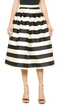 Tibi Pleated Full Skirt