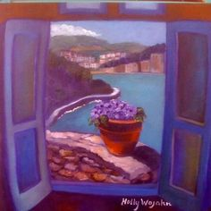 """Another version ( of many!) Of the """"Vue de Hotel des Carranque"""", Collioure, France..."""