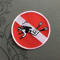 No Diving Patches Punk Individuality Patch Embroidered Patch iron on sew on comic book fun Patch