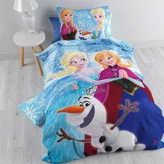 """Parure de lit Disney La Reine des Neiges """"Light"""" Housse de couette réversible + taie Convient pour un lit 1 personne - 19,99 EUR #litreinedesneiges #chambrereinedesneiges"""