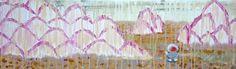 Martian Rain, Martian Rain - acrylic on canvas by Catherine Pang-Murray Brick Lane, The Martian, Rain, Watercolor, Dumpling, Canvas, Gallery, Painting, Illustrations
