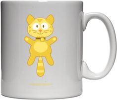 Gökçe Akgül - Sarı Kedi Kendin Tasarla - Beyaz Kupa