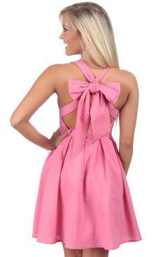Rose - The Livingston Solid Seersucker Dress Back